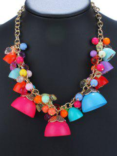 Geometric Candy Color Pendant Necklace
