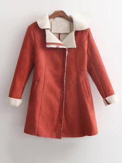 Fleece Lined Faux Suede Winter Coat - Jacinth S