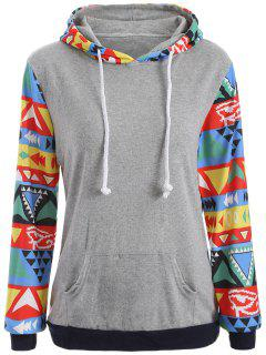 Pocket Diamond Pattern Hoodie - Jacinth S