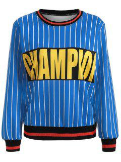 Striped Champion Sweatshirt - Bleu