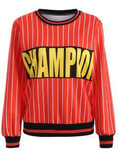 Striped Champion Sweatshirt - Tangerine