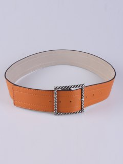 Hollow Twist Square Pin Buckle Belt - Antique Brown