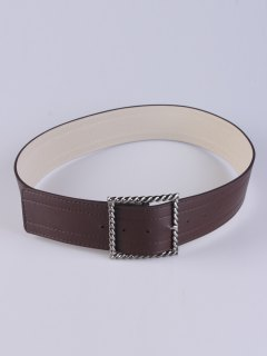 Hollow Twist Square Pin Buckle Belt - Coffee