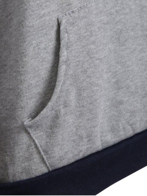 chic Checked Pocket Hoodie - BLACK M Mobile