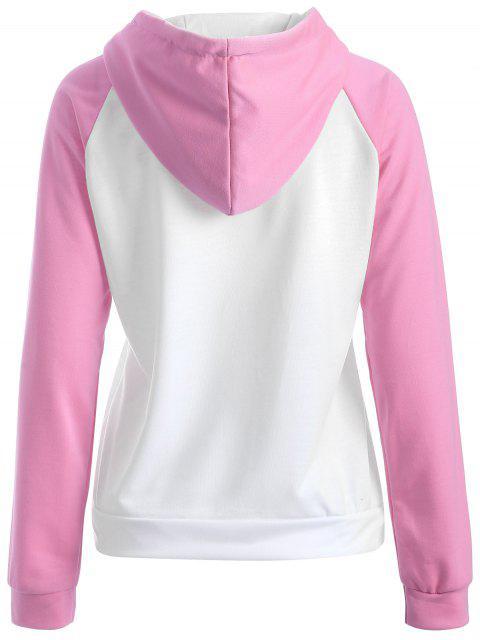 Casual Sweatshirt à capuche Raglan - ROSE PÂLE L Mobile
