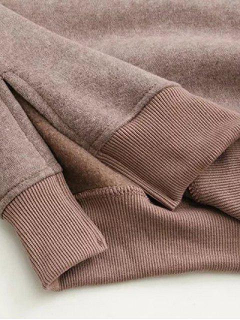 affordable Eye Pattern Sweatshirt Dress - GREEN ONE SIZE Mobile