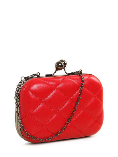 women's Kiss Lock Quilted Evenig Bag -   Mobile
