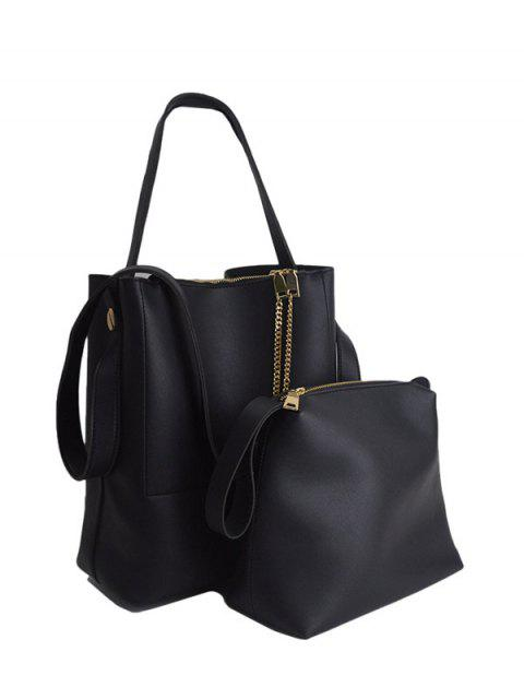 outfits Concise Chains PU Leather Shoulder Bag -   Mobile