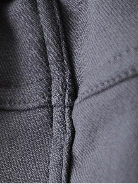 trendy Casual Fleece Narrow Feet Pants - PURPLISH BLUE 4XL Mobile