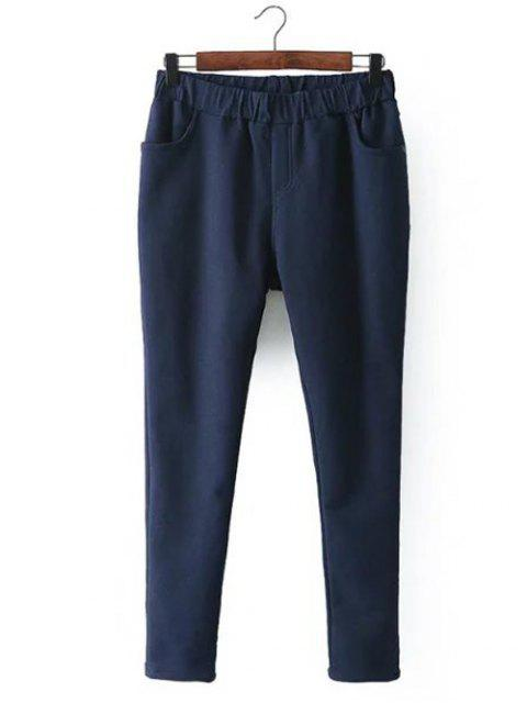 trendy Casual Fleece Narrow Feet Pants -   Mobile