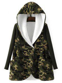 Fleece Lined Camo Coat - Camouflage