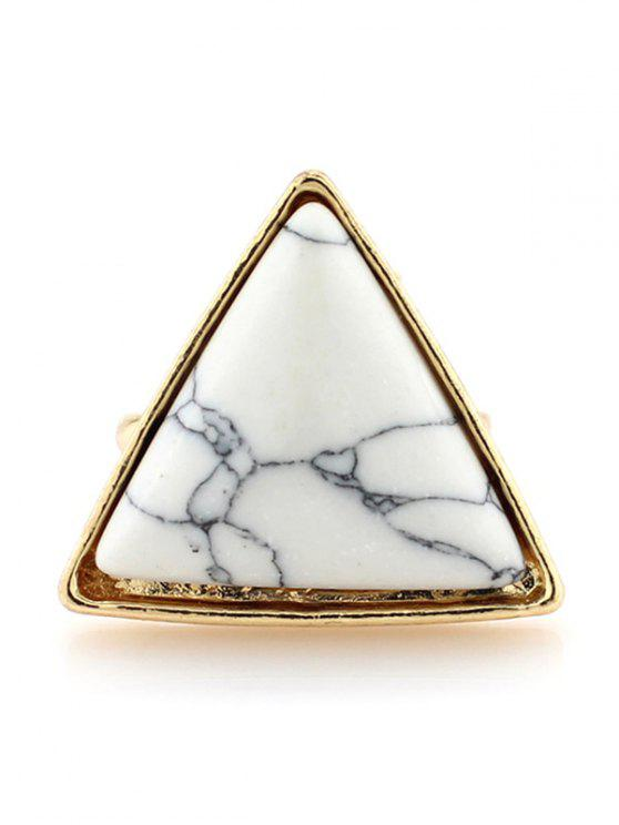 Triángulo del anillo de la turquesa de imitación - Blanco