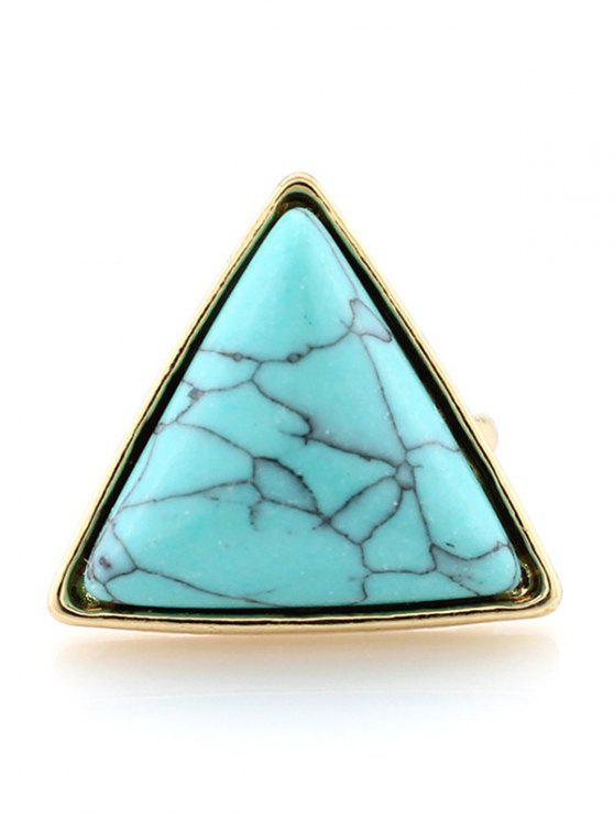 buy Triangle Faux Turquoise Ring - TURQUOISE