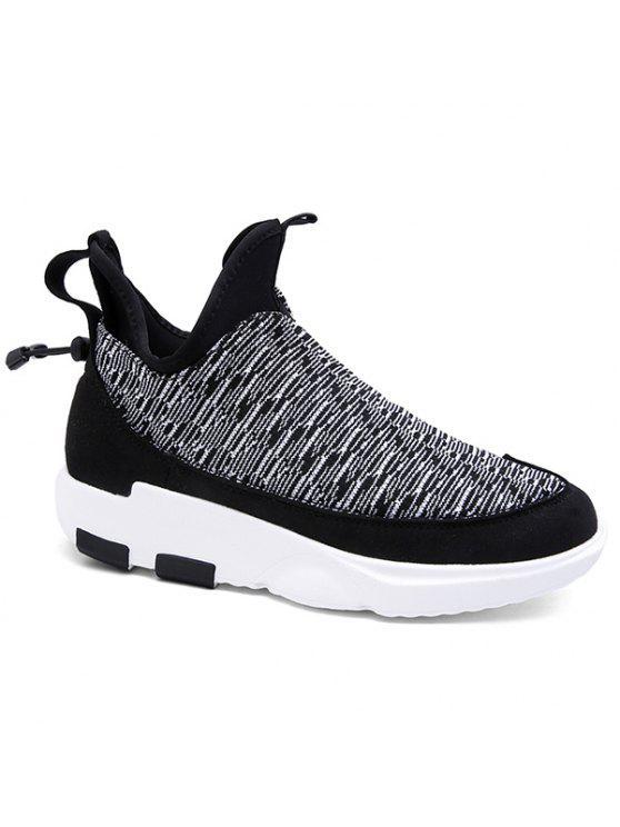 منصة الانزلاق على كتلة اللون أحذية رياضية - اللون الرمادي 42