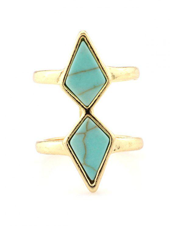 shop Rhombus Cage Ring - TURQUOISE