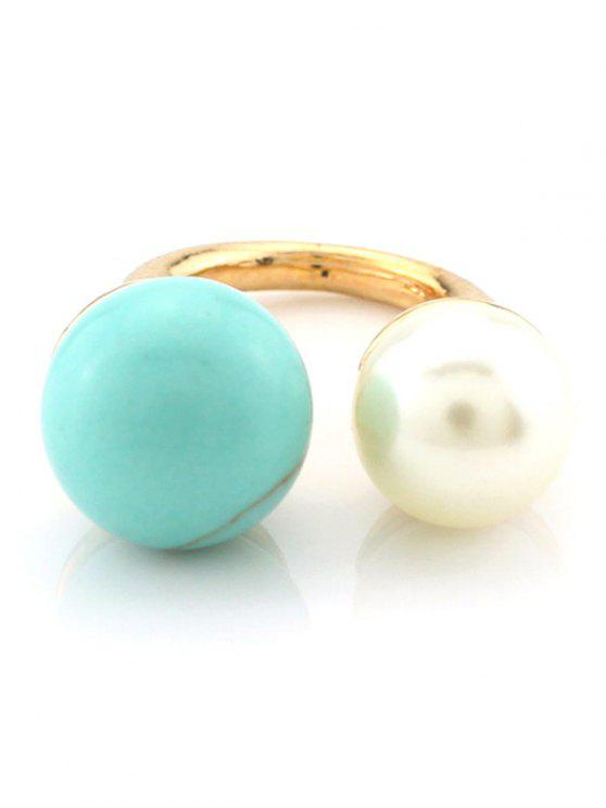 fashion Faux Pearl Bead Ring - TURQUOISE