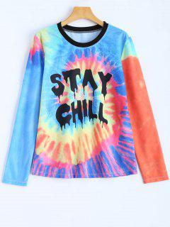 Stay Chill Tie-Dyed T-Shirt - Multicolor M