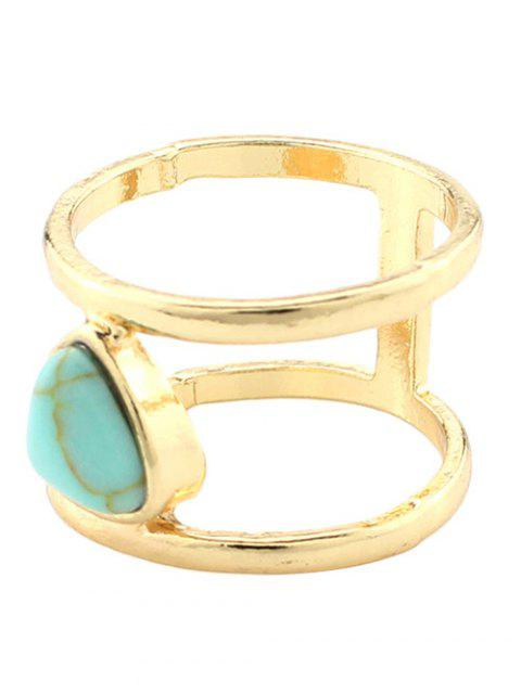 outfits Faux Turquoise Cage Ring -   Mobile