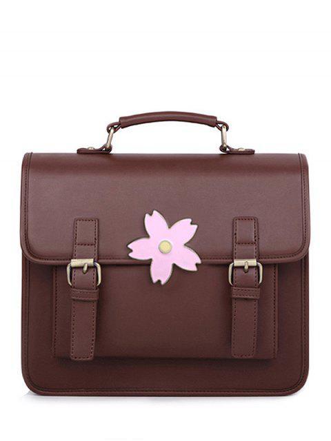 fashion Buckle Strap Sakura Satchel Bag -   Mobile