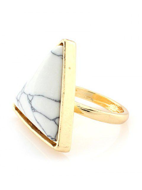 affordable Triangle Faux Turquoise Ring - WHITE  Mobile