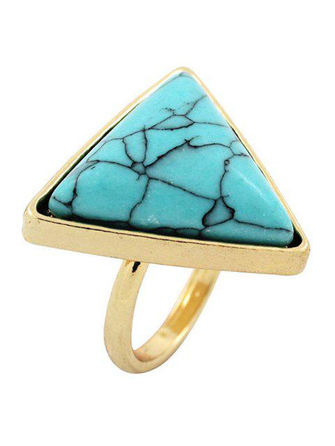 Triangle Faux Turquoise Bague - Turquoise  Mobile