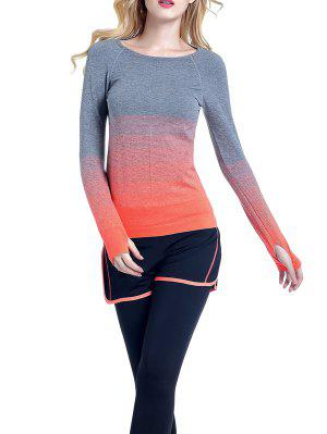 Ombre Yoga Gimnasio De La Camiseta - Naranja L