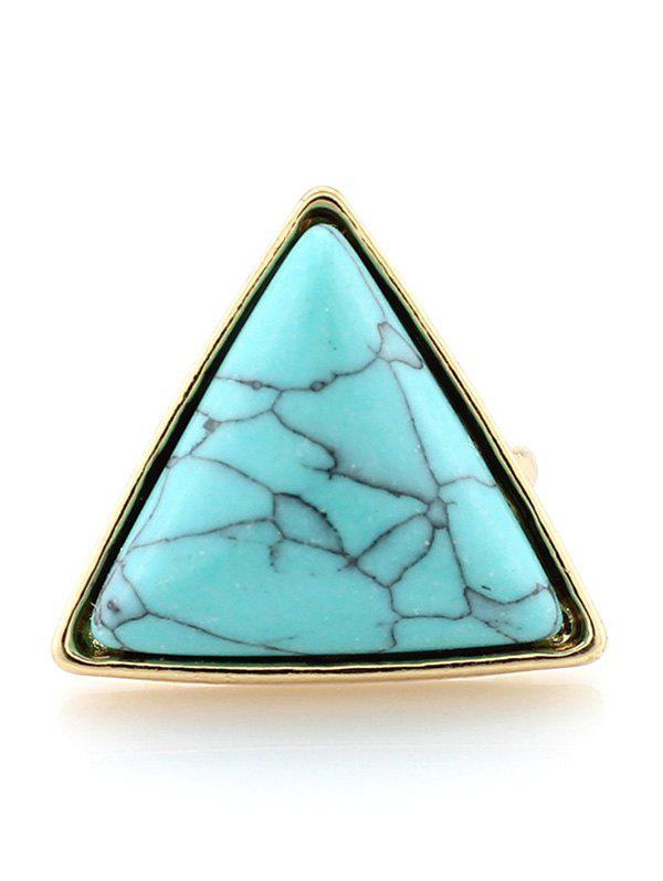 Triangle Faux Turquoise Bague