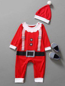 طفل ملابس عيد الميلاد وتتسابق الاطفال بذلة - أحمر 80