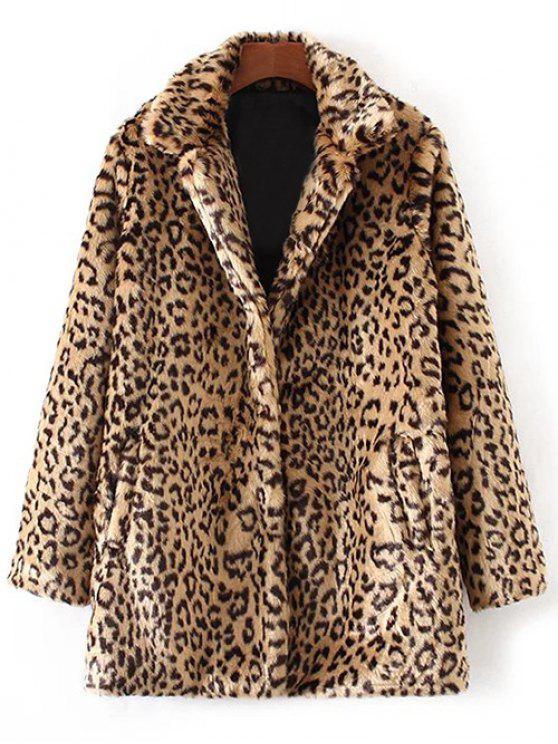 latest Leopard Faux Fur Coat - LEOPARD L