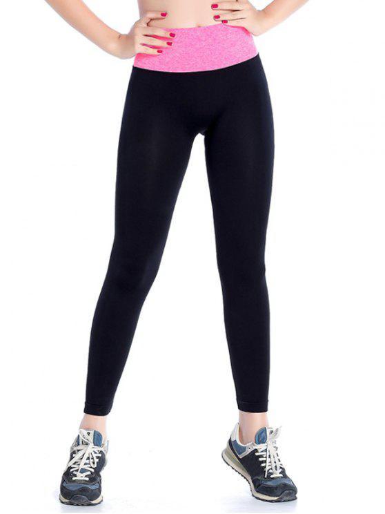 chic Stretchy Yoga Leggings - ROSE RED M