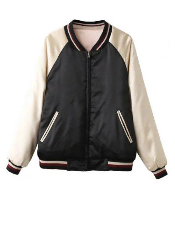 new Double Side Souvenir Jacket - APRICOT L