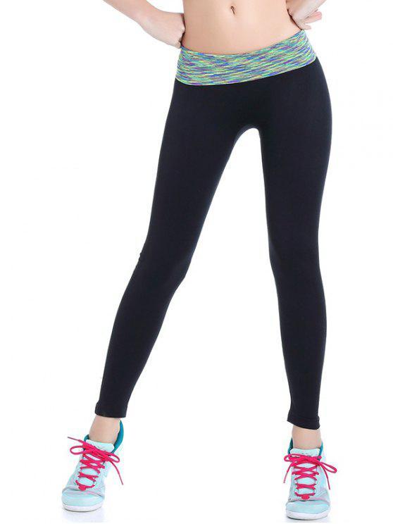 Leggings de gymnastique élastique à tie dye - Vert clair M