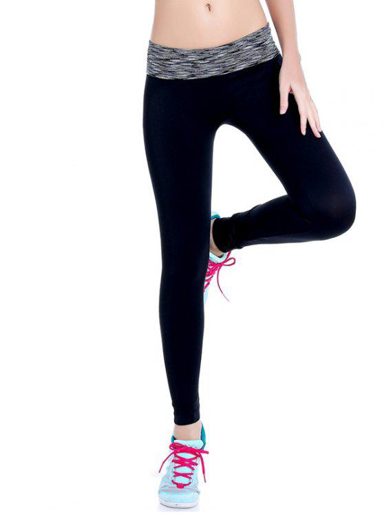 Leggings de gymnastique élastique à tie dye - Gris L
