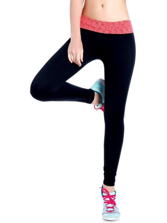 Leggings de gymnastique élastique à tie dye - Tangerine S