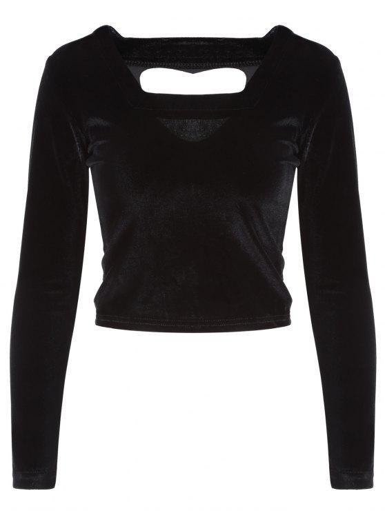 Recortable Pleuche la camiseta - Negro Única Talla