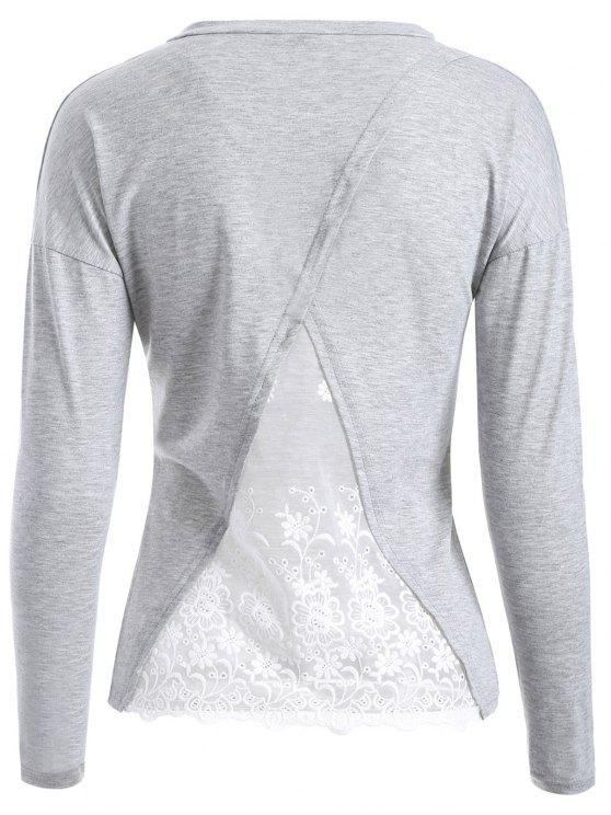 Camiseta Empalme Ecanje Espalda - Gris Claro XL