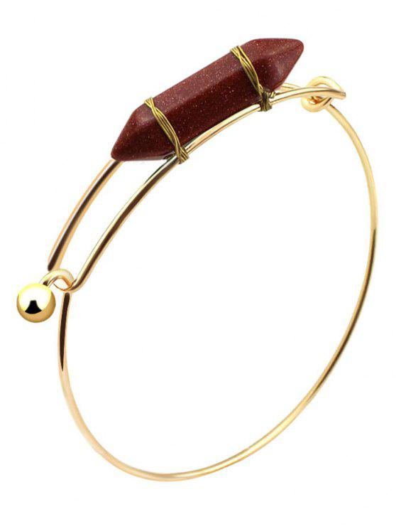 best Vintage Natural Stone Bullet Shape Bracelet - RED