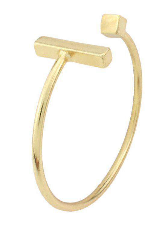 hot Vintage Alloy Adorn Geometric Cuff Bracelet - GOLDEN