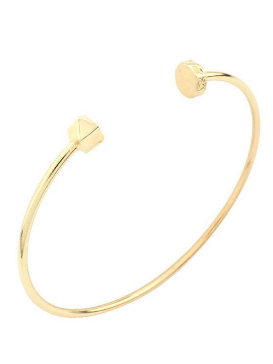 chic Triangle Alloy Cuff Bracelet - GOLDEN