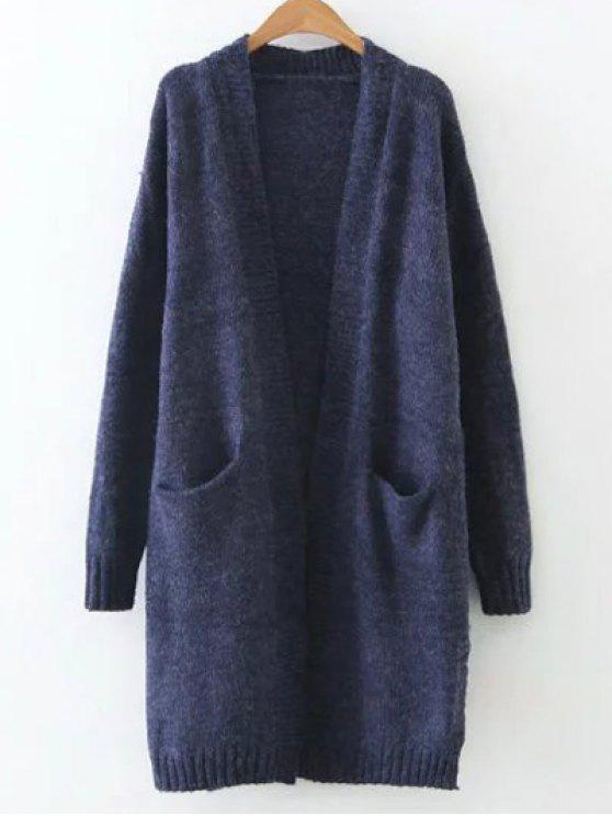 Longline Pocket Cardigan CADETBLUE: Sweaters ONE SIZE | ZAFUL