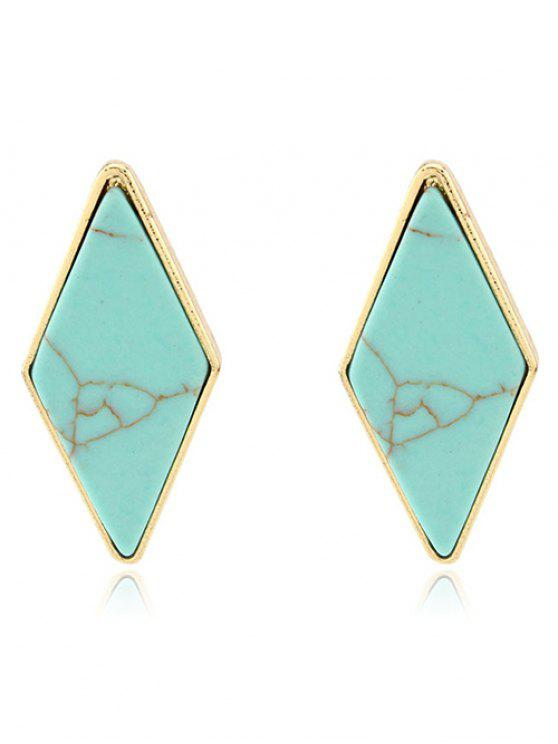 lady Artificial Turquoise Geometric Earrings - GREEN