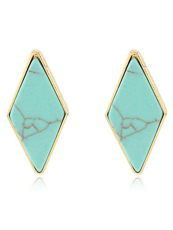 Boucles d'oreilles  artificielle géométriques en turquoise - Vert