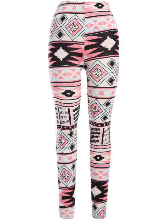womens Nordic Printed Leggings - PINK ONE SIZE