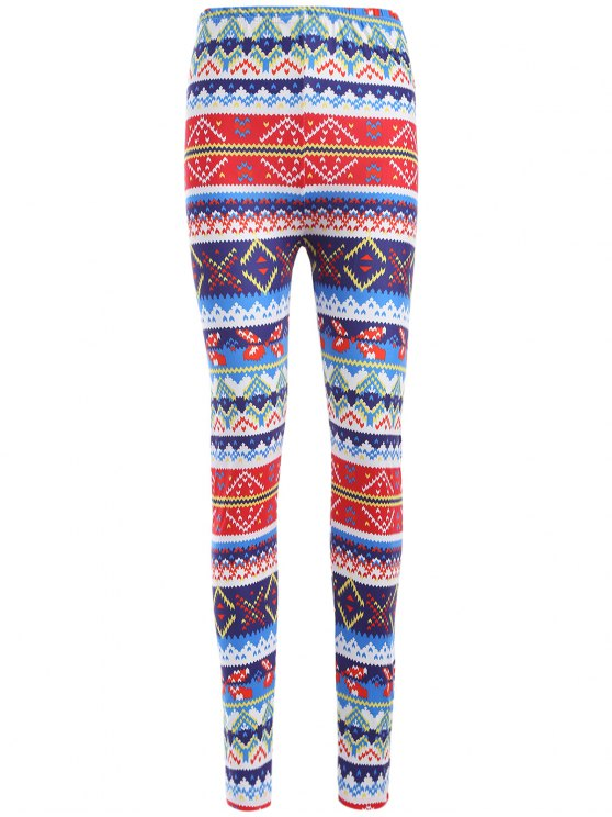 outfit Colorful Printed Winter Leggings - COLORMIX ONE SIZE