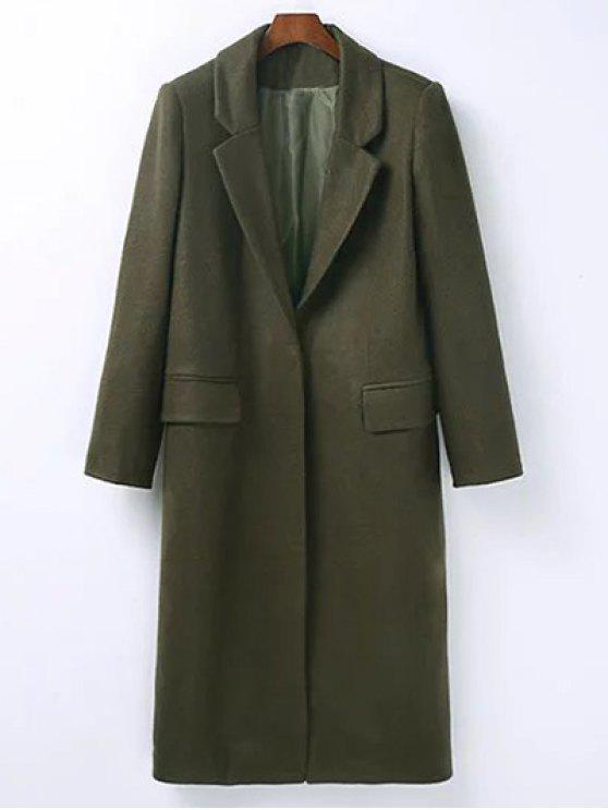 affordable Wool Blend Masculine Coat - ARMY GREEN M