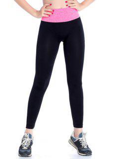 Stretchy Yoga Leggings - Rose Red M