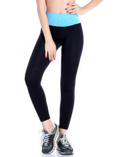 Stretchy Yoga Leggings - Azure S