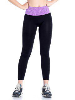Stretchy Yoga Leggings - Purple S
