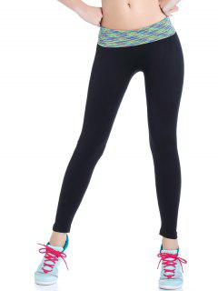 Stretchy Space Dyed Yoga Leggings - Light Green S