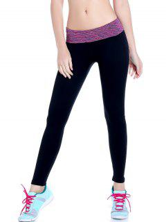 Stretchy Space Dyed Yoga Leggings - Purple M